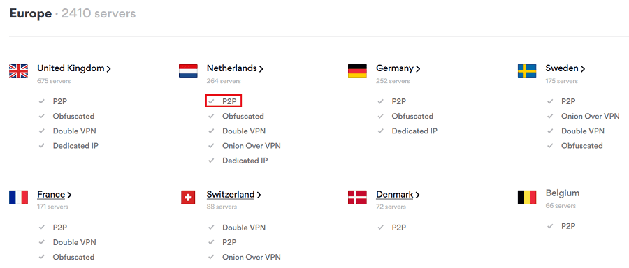 Identifying the right NordVPN servers to use