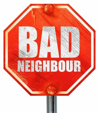 The bad neighbor effect
