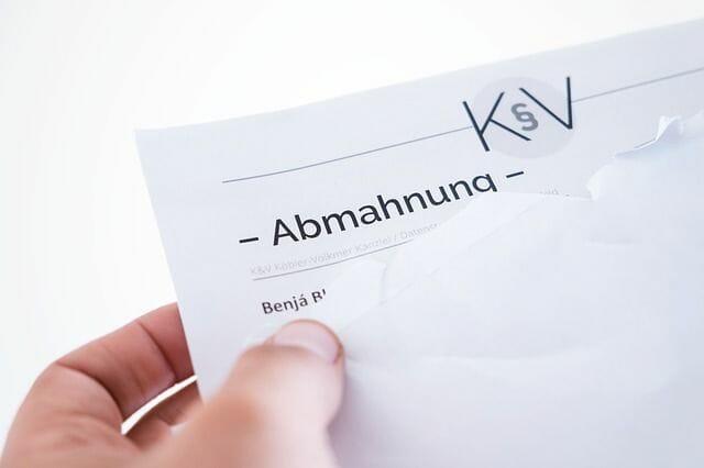 An abmahnung letter
