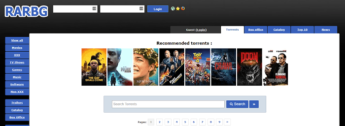 A site that offers variety of torrents